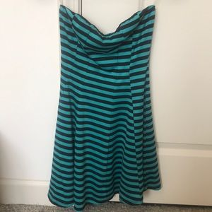 Teal And Black Solemio Dress